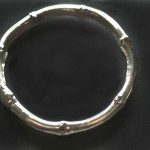 Bamboo Bangle Bracelet | Silver Botanica Jewelry