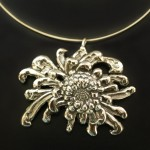 Large Mum Necklace | Silver Botanica Jewelry