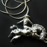 Bronco Cowboy Necklace | Silver Botanica Jewelry