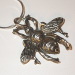 Bee Pendant Necklace | Silver Botanica