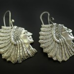 Indian Chief Earrings | Silver Botanica Jewelry