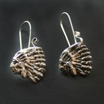 Small Indian Earrings By Silver Botanica Jewelry