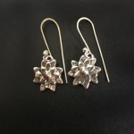 Mini Mum Earrings | Silver Botanica Jewelry