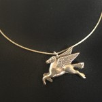 Mobil Winged Horse | Silver Botanica Jewelry