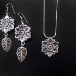 Vintage-Blossom-Earrings-Necklace-SilverBotanica