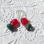 Guava Earrings Bckgrd | Silver Botanica Jewelry