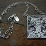 Geisha Necklace | Silver Botanica Jewelry