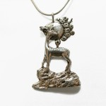 Deer Moon Necklace | Silver Botanica Jewelry