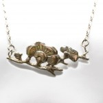 Blossom Branch Necklace | Silver Botanica Jewelry