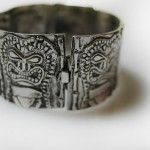Tiki Bracelet Closed | Silver Botanica Jewelry