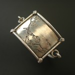Bird On Blossom Bracelet | Silver Botanica Jewelry