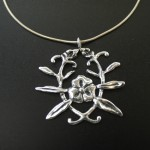 Flower Emblem Necklace | Silver Botanica Jewelry
