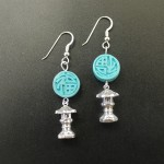 Pagoda Earrings | Silver Botanica Jewelry