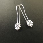 Blossom Hook Earrings | Silver Botanica Jewelry