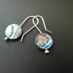 Abalone Disk Earrings | Silver Botanica Jewelry