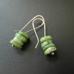 Stacked Coral Green | Silver Botanica Jewelry