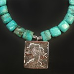Turquoise Geisha Necklace | Silver Botanica Jewelry