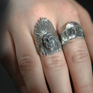 Indian Rings On | Silver Botanica Jewelry