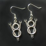 V8 Wrench Earrings | Silver Botanica Jewelry