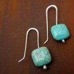 Be Square Earrings | Silver Botanica Jewelry