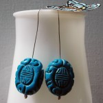 Blue Stone Earrings | Silver Botanica Jewelry