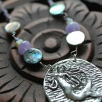 Mermaid Necklace Close BG | Silver Botanica Jewelry
