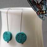 Carved Turquoise Earrings | Silver Botanica Jewelry