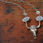 Cow-skull-necklace-SilverBotanica