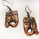 Elephant-Head-Earrings--SilverBotanica