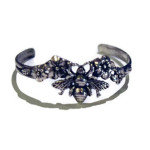 bee-blossom-cuff-bracelet-silverbotanica