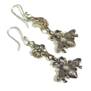 bee-blossom-earrings-silverbotanica